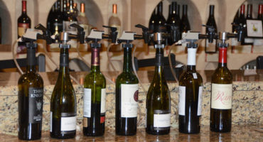 wine bottles image