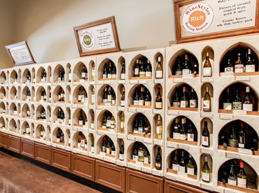 interior of wine retail alcoves image