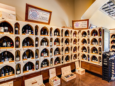wine station alcoves