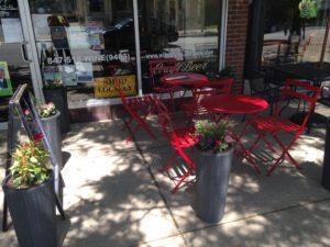 patio of WineStyles in Park Ridge